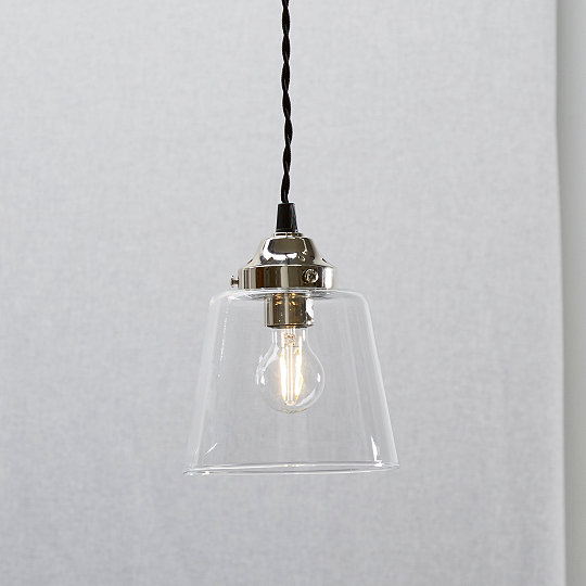 Tapered glass small pendant light ceiling lights the white tapered glass small pendant light aloadofball Gallery