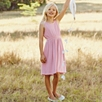 Tie Shoulder Dress - White/Pink (4-10yrs)