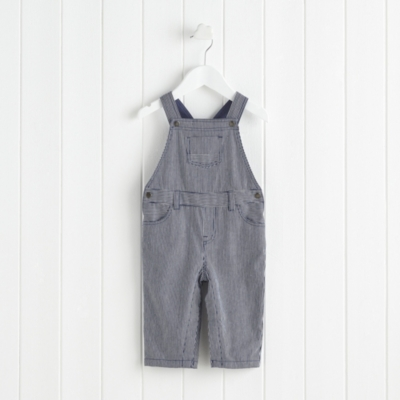 Ticking Striped Dungarees