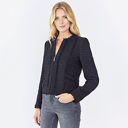 Tweed Jacket  - Black