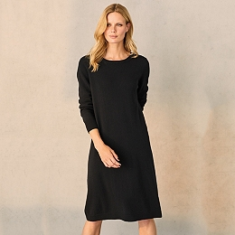 Wool Tie Back Knitted Dress