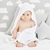 Large Hydrocotton Hooded Bear Ears Towel  - White