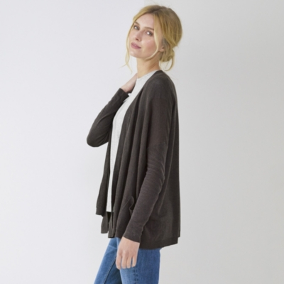 Textured Open Front Cardi