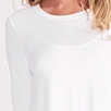 3/4 Sleeve Floaty A-Line T-Shirt