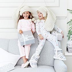 Spot and Stripe Jersey Pyjamas 2 Pack
