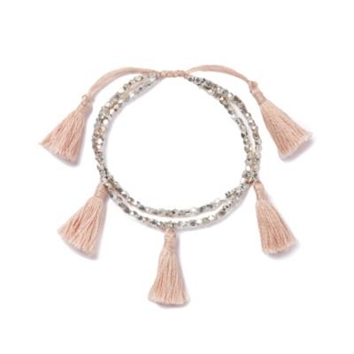 Brass Bead Tassel Bracelet