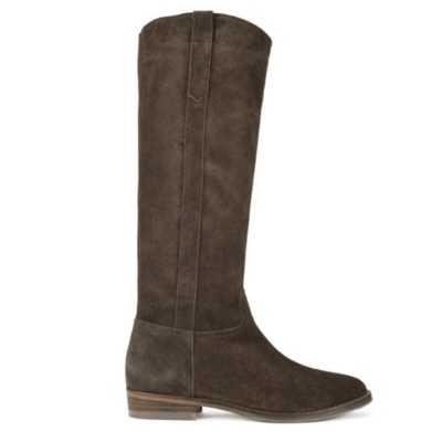 Tall Suede Boots - Chocolate
