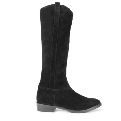 Tall Suede Boots - Black