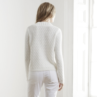 Textured Stitch Cropped Sweater