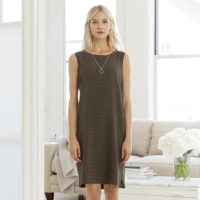 Textured Stripe Silk Dress