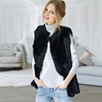 Reversible Sheepskin Gilet - Black