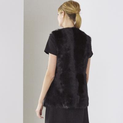 Reversible Sheepskin Gilet - Black