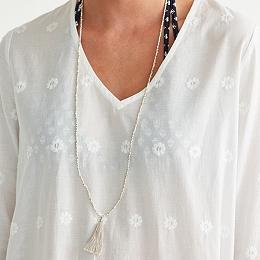 Brass Bead Tassel Necklace
