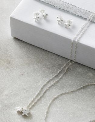 Twin Star Pavé Necklace