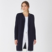 Thermal Stitch Waterfall Cardigan - Navy