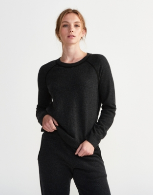 Cashmere Contrast Lounge Sweater