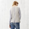 Two Tone Button Back Sweater