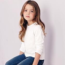 Picot Trim T-shirt - White
