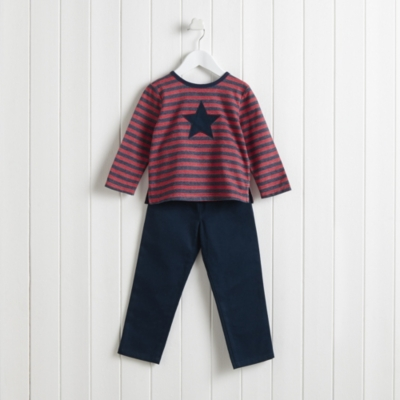 Twill Pants and T-Shirt Set (1-6yrs)