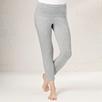 Turned Waistband Pants - Silver Gray Marl