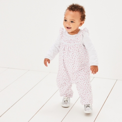 Tulip Floral Dungaree Set - The White Company