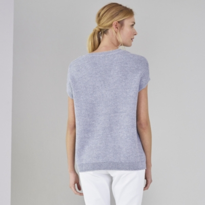 V-Neck Textured Knitted Top