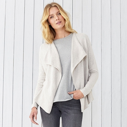 Textured Waterfall Cardigan | The White Company UK