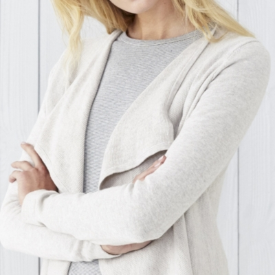 Textured Waterfall Cardigan