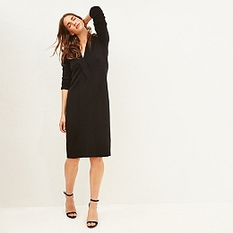 Cashmere Knitted Twist Front Dress