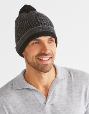 Men's Cashmere Textured Beanie Hat