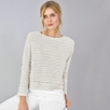 Textured Stripe Top - Porcelain