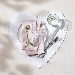 Linen Heart Placemats – Set of 2