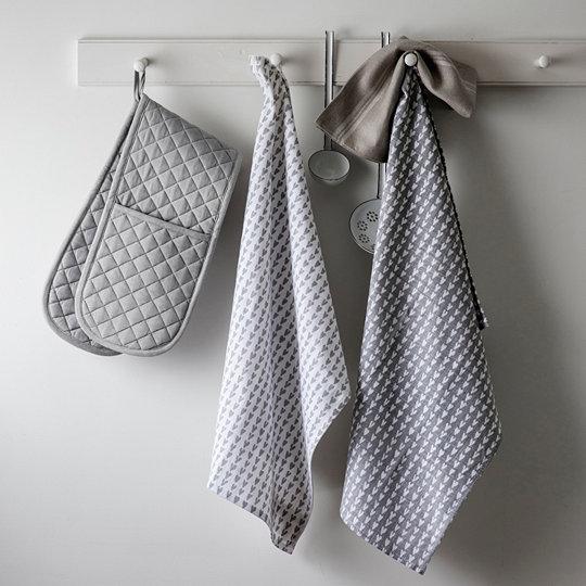 Heart Print Tea Towel Set Of 2