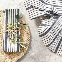 Stripe Cotton Napkins – Set of 4