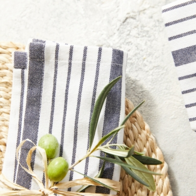 Stripe Cotton Napkins – Set of 4