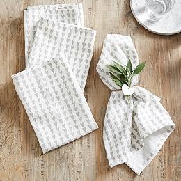 Heart Print Napkins – Set of 4 - White