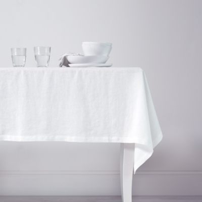 Vintage Washed Linen Tablecloth