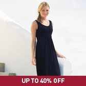 Buy Banded Empire Jersey Dress - Navy from The White Company