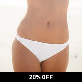 Buy Broderie Bikini Briefs - White from The White Company