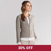 Buy Boiled Wool Zip Jacket - Stone from The White Company