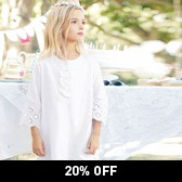Buy Broderie Long Sleeve Dress from The White Company