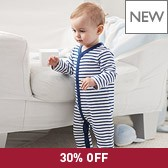 Buy Boys' Stripe Terry Sleepsuit from The White Company