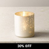 Frosted Pot Tealight Holder