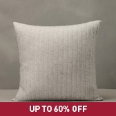 Buy Cashmere Rib Cushion Cover - Grey Marl from The White Company