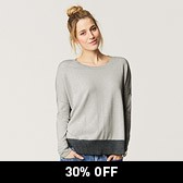 Colourblock Hem Jumper - Silver Grey Marl