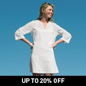 Buy Cotton Broderie Notch Neck Tunic - White from The White Company