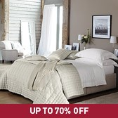 Buy Clarendon Quilt & Cushions - Silver from The White Company