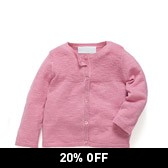 Buy Baby Cotton Linen Rib Cardigan from The White Company