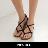 Buy Cross Over Strap Sandals - Black from The White Company