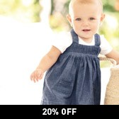 Buy Chambray Pintuck Pinafore Dress from The White Company